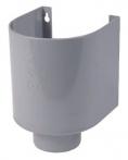 Vergaarbak PVC HWA grijs 80mm prijs per stuk