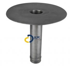 Hemelwaterafvoer loden onderuitloop MO 60/ 300mm prijs per stuk