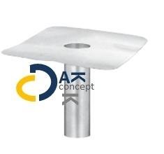 Hemelwaterafvoer onderuitloop aluminium MO 70/ 330mm prijs per stuk