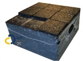 Tegeldrager betontegel 150x150x15mm prijs €0,86 per stuk/ 70 per pak