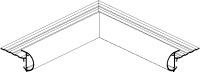 Daktrim roval aluminium  kraal 26 mm - binnenhoek