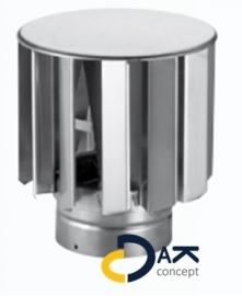 VT turbine windgedreven ventilator RVS 100mm aluminium 330m3/h Anjo