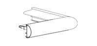 Buitenhoek Roval EPDM Solo-kraal 45 45/45mm incl. bevestiging toebehoren prijs per stuk