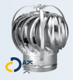 Penn Anjo windgedreven ventilator aluminium 100mm 28 m3/h  prijs per stuk