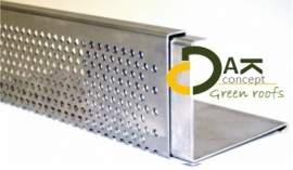 Dakrand L-profiel aluminium 2,5 meter prijs per stuk