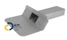 Hemelwaterafvoer loden kiezelbak zijuitloop UD 60x100/300mm 45gr. prijs per stuk