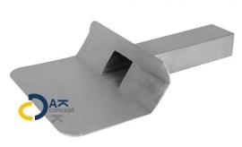 Hemelwaterafvoer loden kiezelbak zijuitloop UD 60x80/300mm 45gr. prijs per stuk