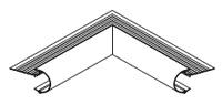 Daktrim roval aluminium  kraal 45 mm - binnenhoek