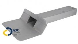 Hemelwaterafvoer loden kiezelbak zijuitloop UD 60x100/450mm 45gr. prijs per stuk