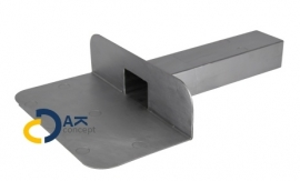 Hemelwaterafvoer loden kiezelbak zijuitloop UD 60x80/300mm 90gr. prijs per stuk