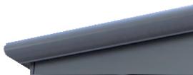 Daktrim aluminium roval kraal 26 mm lengte 2.5 m + verbindingsstuk