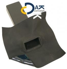 EPDM Hertalan  hemelwaterafvoer zijuitloop 60x80 45gr. 300mm prijs per stuk