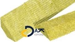 Mastiekhoek steenwol trapezium (schroot) naakt 10x10cm 1,2mtr prijs per stuk