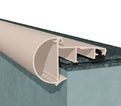 Daktrim Roval EPDM Solo-kraal 45 45/45mm 2,5m incl. bevestiging toebehoren prijs per stuk