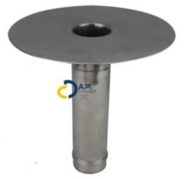 Hemelwaterafvoer loden onderuitloop MO 80/ 300mm prijs per stuk