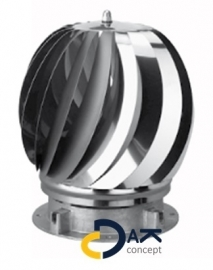 Aspirotor windgedreven RVS ventilator 150mm aluminium  Anjo