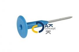 Dakschroef 5,0mm + kunststof drukverdeelplaat ISO dikte 50mm, prijs per doos 250 stuks