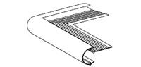 Daktrim roval aluminium  kraal 45 mm - buitenhoek
