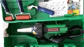 Leister Triac ST PROF hetelucht fohn + aandrukrollen & mondstuk 40mm (bitumen of pvc) prijs per set