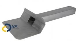 Hemelwaterafvoer loden kiezelbak zijuitloop UD 60x80/450mm 45gr. prijs per stuk