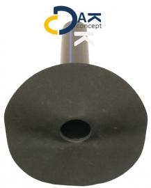EPDM Hertalan hemelwaterafvoer onderuitloop 40mm lengte 400mm prijs per stuk