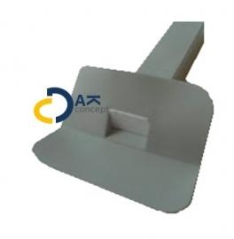 HWA Prefab Hard PVC dakbedekking zijuitloop 60x100 L300mm 45 graden prijs per stuk
