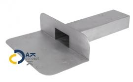Hemelwaterafvoer loden kiezelbak zijuitloop UD 60x100/300mm 90gr. prijs per stuk