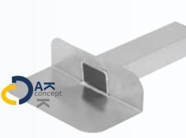 Hemelwaterafvoer zijuitloop aluminium UD 60x100/ 330mm 90gr. prijs per stuk