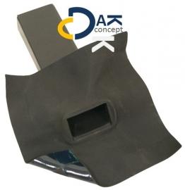 EPDM Hertalan  hemelwaterafvoer zijuitloop 60x100 45gr. 300mm prijs per stuk