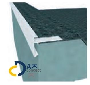 Daktrim Roval bitumen 45x45mm blank 2,5m + verbindingsstuk prijs per stuk