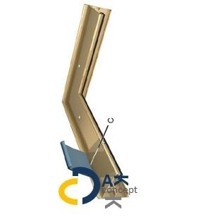Binnenhoek Roval EPDM Solotrim 100 100/55mm incl. bevestiging toebehoren prijs per stuk