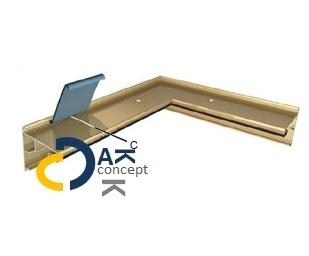 Buitenhoek Roval EPDM Solotrim 80 80/55mm incl. bevestiging toebehoren prijs per stuk