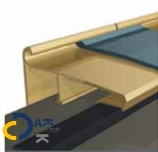 Daktrim Roval EPDM Solotrim 60 60/55mm 2,5m incl. bevestiging toebehoren prijs per stuk