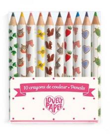 Djeco Lovely paper | set van 10 potloden