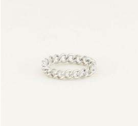 My Jewellery | Ring kleine schakels zilver mt 16