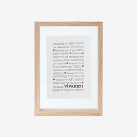 vtwonen | fotolijst hout - A6-formaat