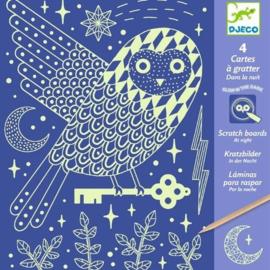 Djeco knutselen | kraskaarten nacht