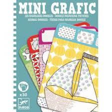 Djeco Mini grafic Motieven tekenen en kleuren