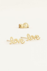 My Jewellery | studs love goud