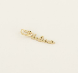 My Jewellery | Bedel 'believe' goud
