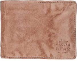 Bear Design cow lavato leren billfold | hazelnoot