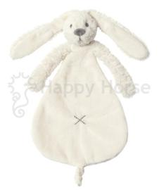 Happy horse konijn | Richie knuffeldoekje wit