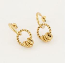 My Jewellery | Oorhangers rondjes goud
