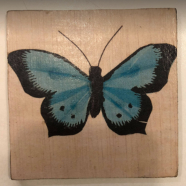 cottoncounts houten onderzetter   Vlinder