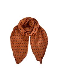 black colour sjaal | Tilly orange