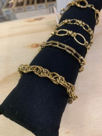 My Jewellery   armband schakels gedraaid goud