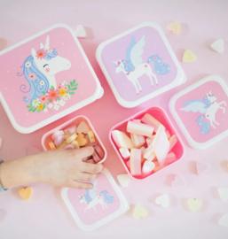 Little Lovely Company lunch & snackbox set | eenhoorn