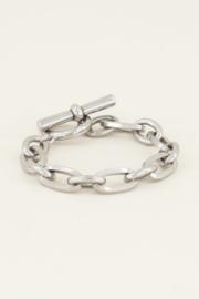 My Jewellery | schakelarmband kapittelslot zilver