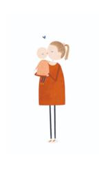 wenskaart kleinliefs   moeder en kind