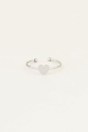 My Jewellery | verstelbare ring klein hartje zilver